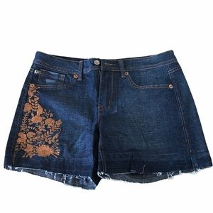 NWOT Embroidered Jean Shorts